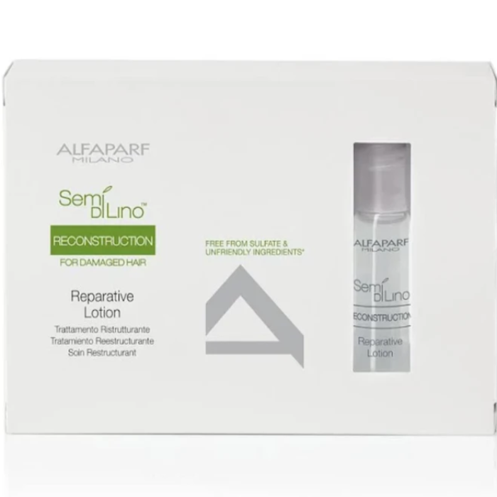 Alfaparf Milano Semi Di Lino Reconstruction Reparative Lotion 6 Ampoules 0.43oz