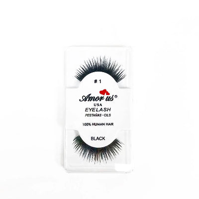 Amor Us USA Eyelash 100% Human Hair Black