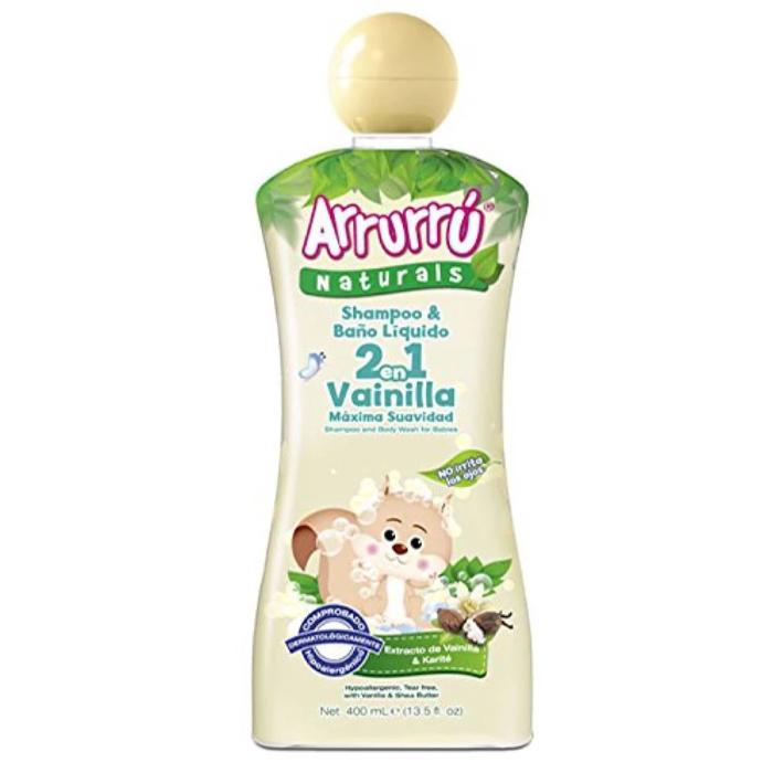 Arrurrú Naturals 2In1 Shampoo and Body Wash for Babies with Vanilla & Shea Butter