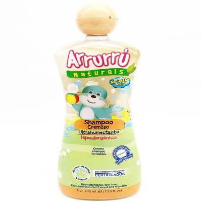 Arrurrú Naturals Creamy Shampoo For Babies Enriched with Oat Extract and Glycerin 13.5oz / 400mL