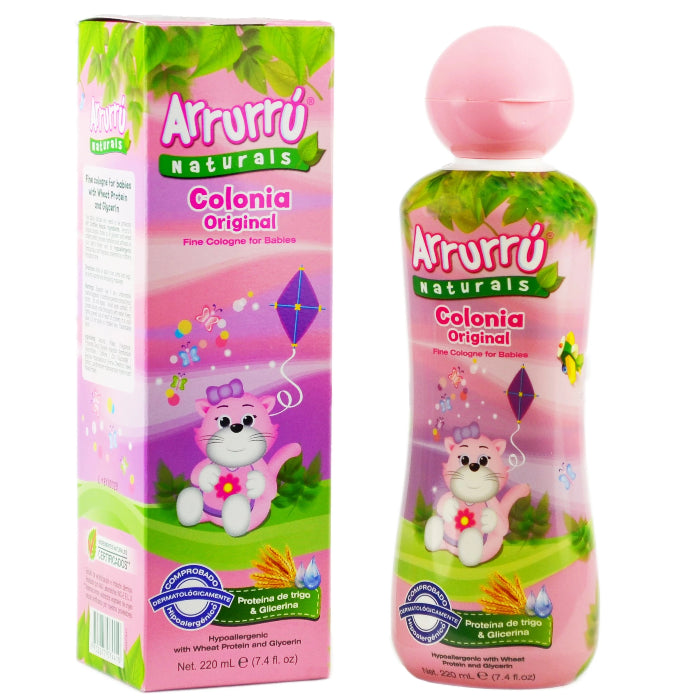 Arrurrú Naturals Hypoallergenic Fine Cologne for Babies with Wheat Protein and Glycerin