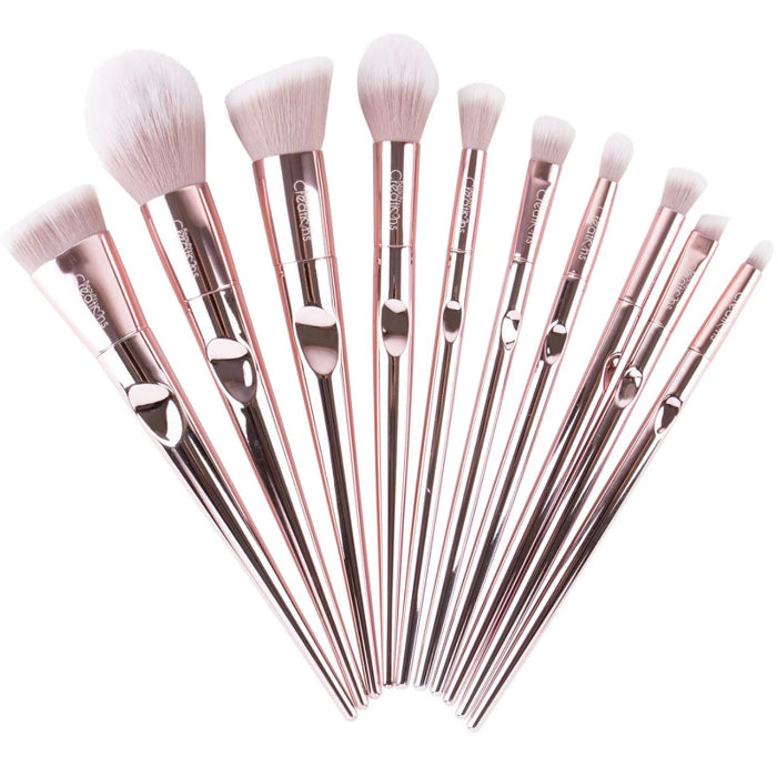 Beauty Creations Champagne Luxe 10Pc Brush Collection