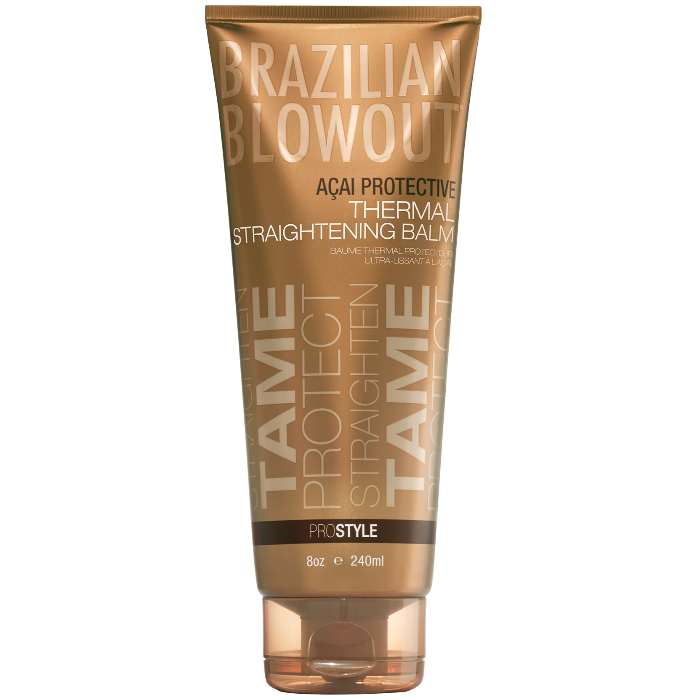 Brazilian Blowout Açai Protective Thermal Straightening Balm ProStyle 8oz / 240ml