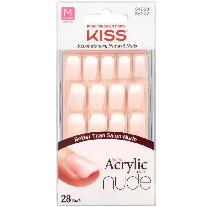 Bring The Salon Home Kiss Revolutionary Natural Nails Better Than Salon French Nude Acrylic 28 Nails