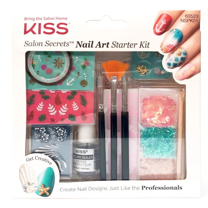Bring The Salon Home Kiss Salon Secrets Nail Art Starter Kit 60523/NSPK01