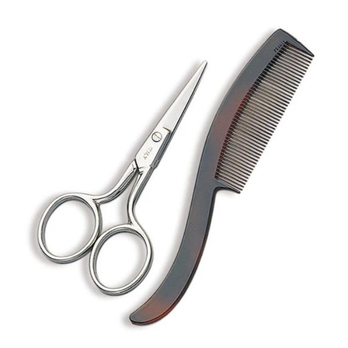 Denco Mustache Scissors & Comb #4102