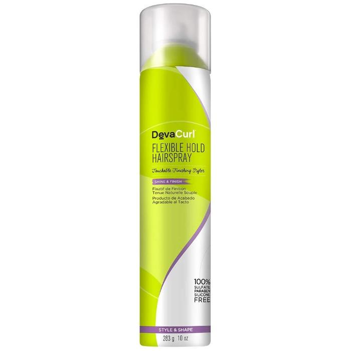 DevaCurl Flexible Hold Hairspray Touchable Finishing Styler Shine & Finish 10oz / 283g