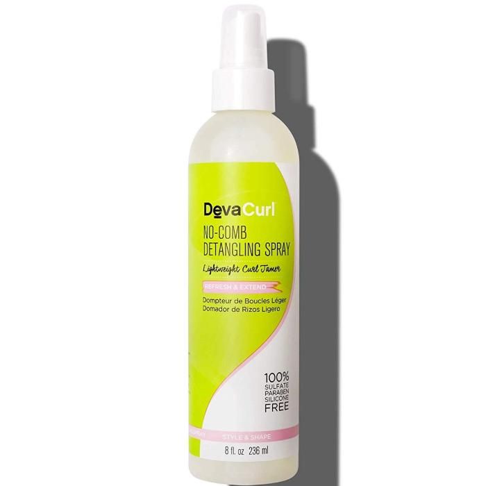 DevaCurl No-Comb Detangling Spray Lightweight Curl Tamer Refresh & Extend 8oz / 236ml
