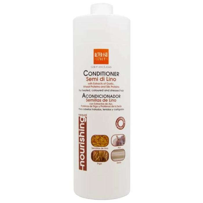 Ever Ego Conditioner Semi Di Lino With Extracts Of Garlic, Wheat Proteins & Silk Proteins 33.8oz / 1000ml