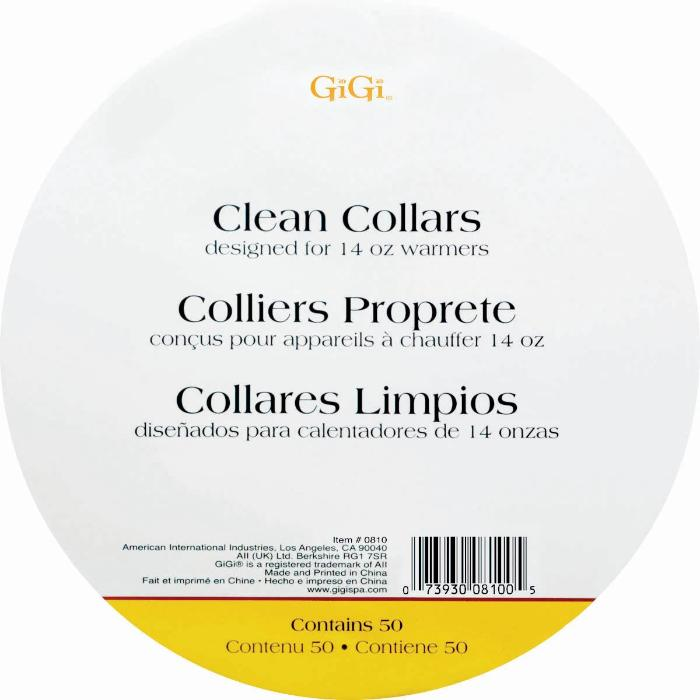 GiGi Clean Collars Designed For 14oz Warmers Contains 50 #0810