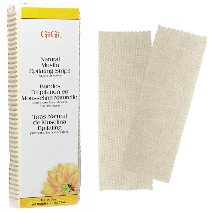 GiGi Natural Muslin Epilating Strips For All Soft Waxes 100 Strips