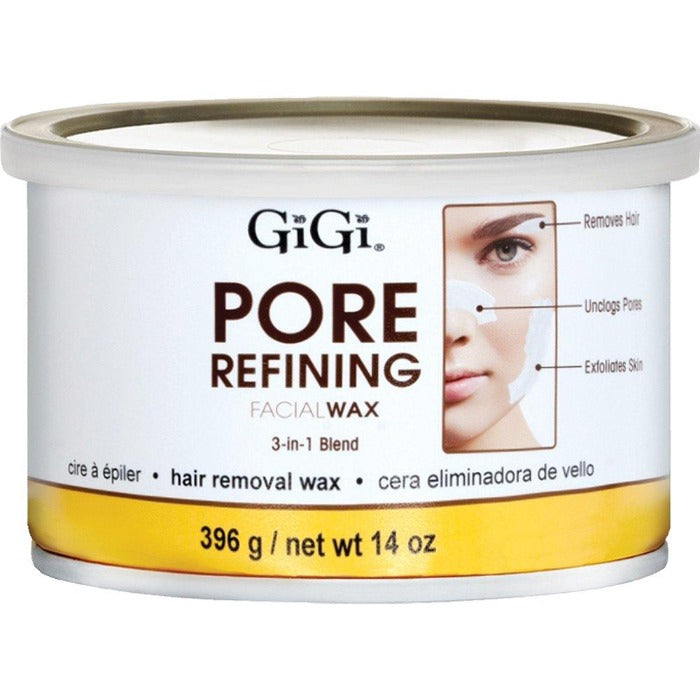 GiGi Pore Refining Facial Wax 3-In-1 Hair Removal Wax 14oz / 396g