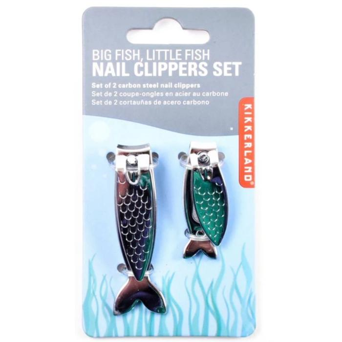 Kikkerland Big Fish, Little Fish Nail Clippers Set
