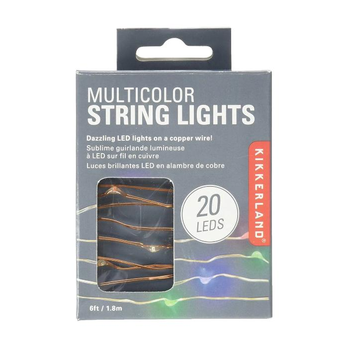 Kikkerland Multicolor String Lights 6ft / 1.8m