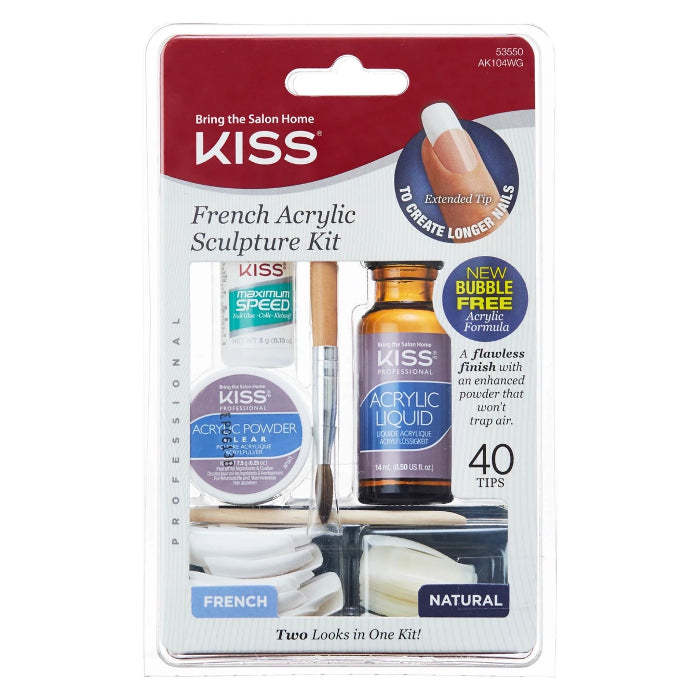 Kiss New York French Acrylic Sculpture Kit 40 Tips