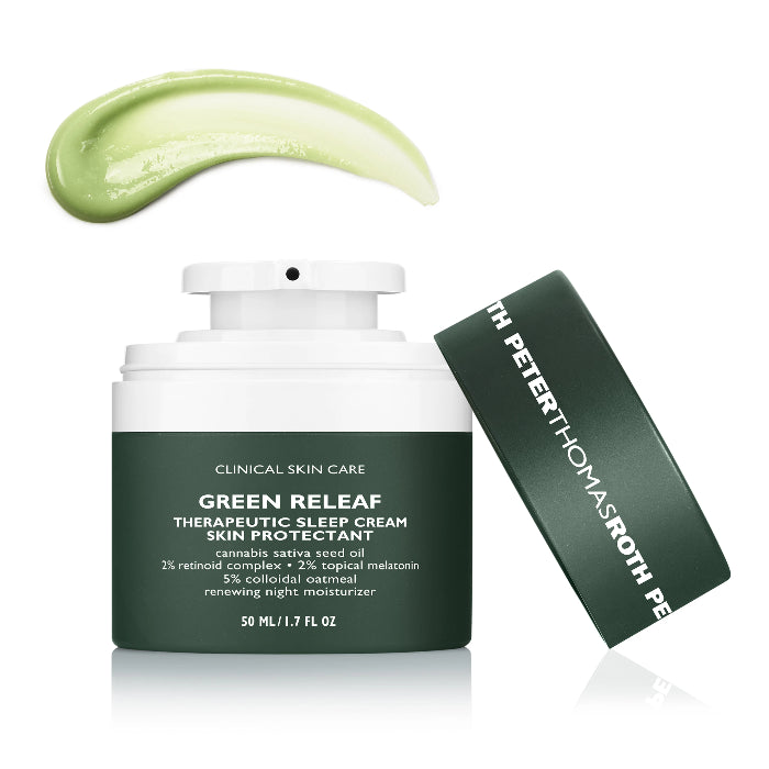 Peter Thomas Roth Green Releaf Therapeutic Sleep Cream Skin Protectant 1.7oz / 50ml