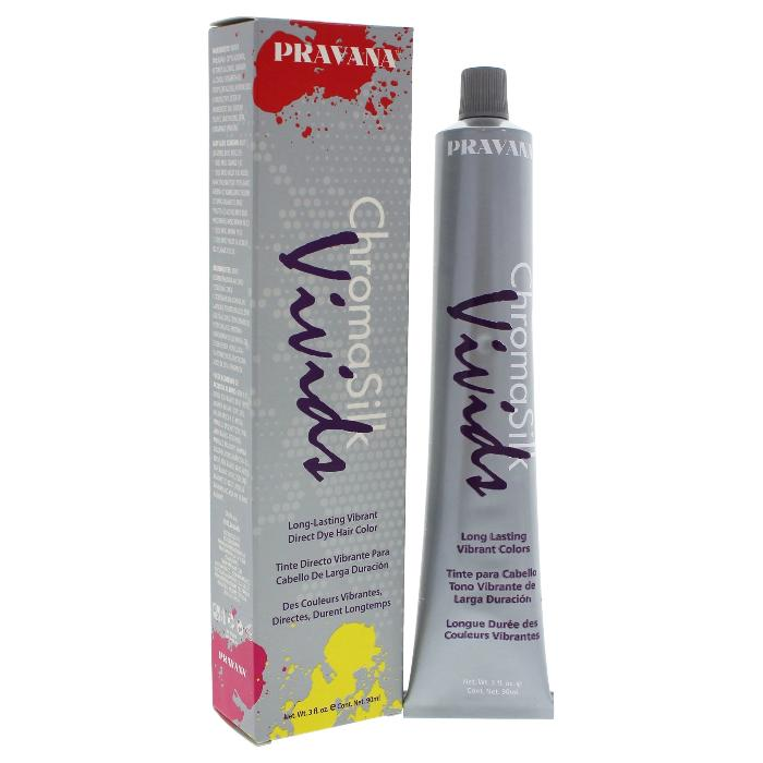Pravana Chroma Silk Vivids Long-Lasting Vibrant Direct Dye Hair Color 3.04oz / 90ml