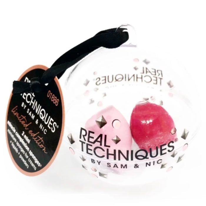Real Techniques By Sam & Nic Limited Edition 2 Mini Miracle Complexion Sponges For Creams + Liquids + Powders