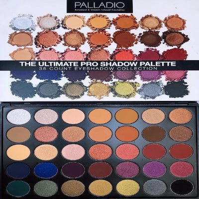 Palladio The Ultimate Pro Shadow Palette Limited Edition 1.9oz /53g