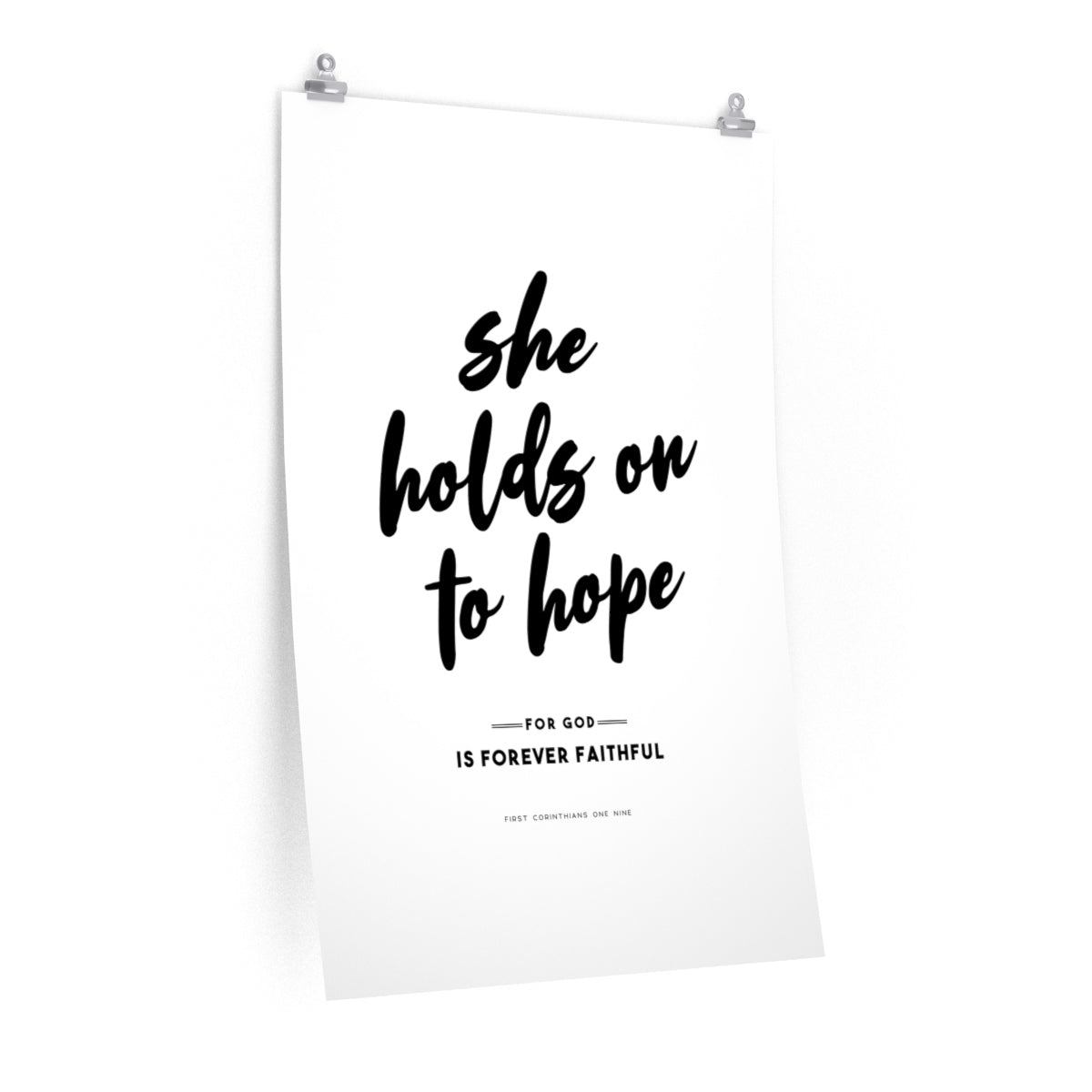 She Holds On To Hope