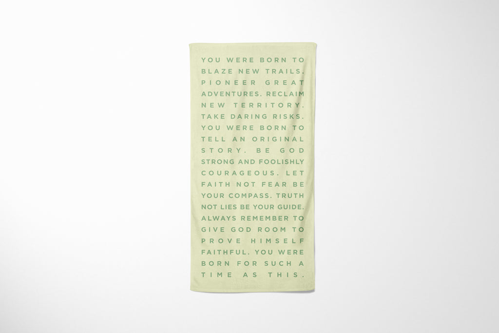 Born to Blaze | Beach Towel