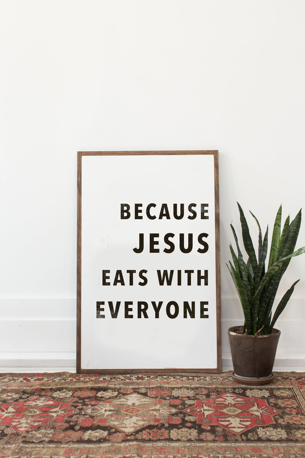 Because Jesus