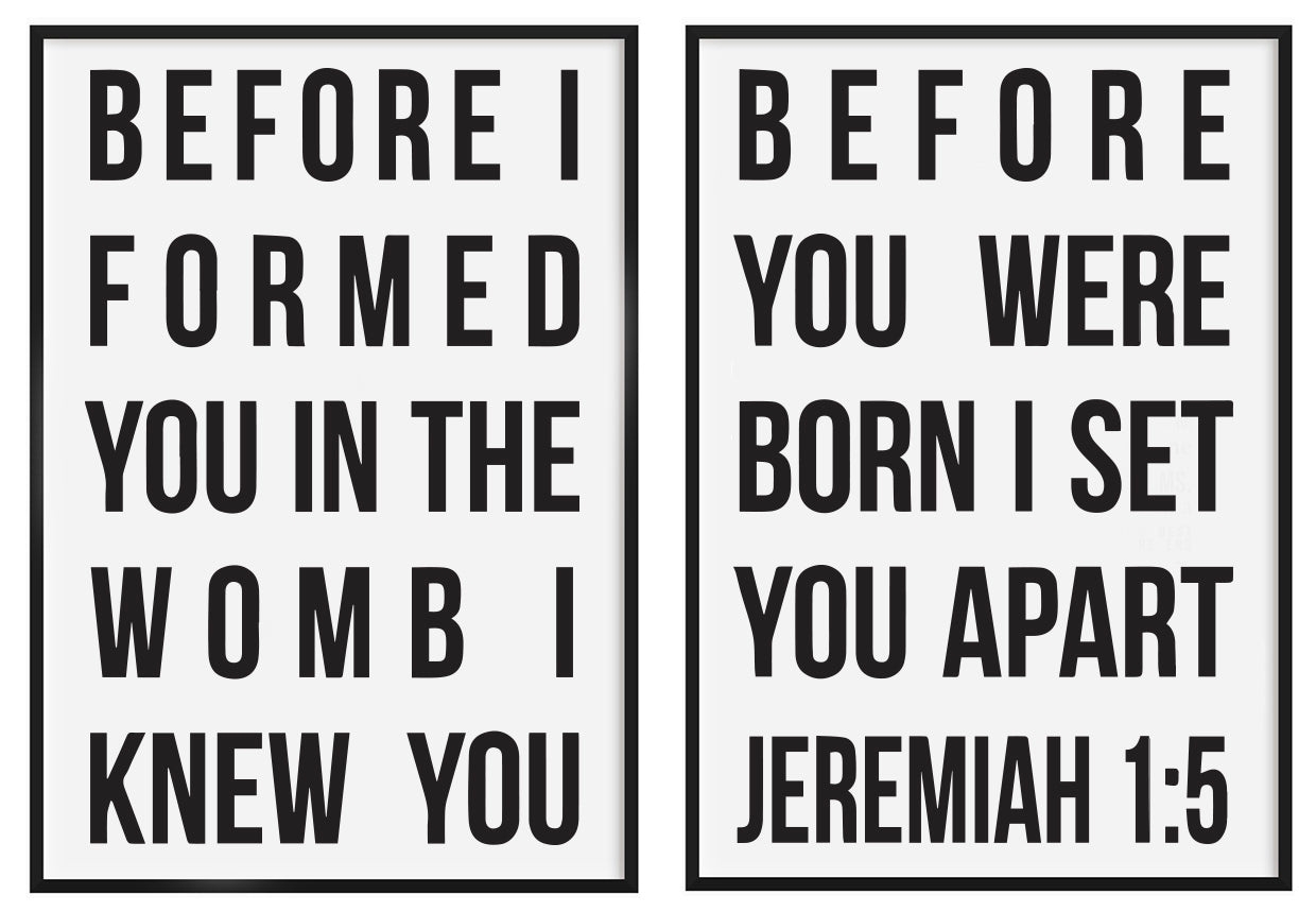 Before I Formed You (set of two)
