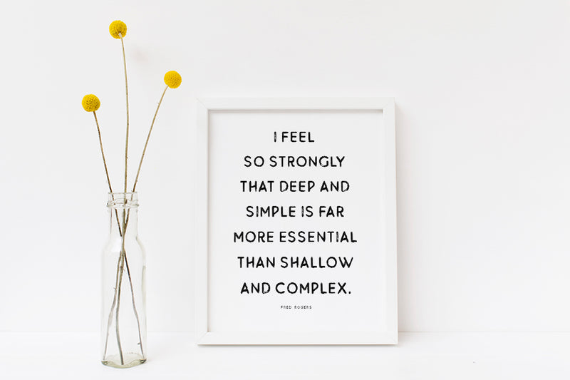 Deep And Simple | Digital Download