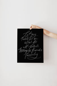 Let My Table | Print