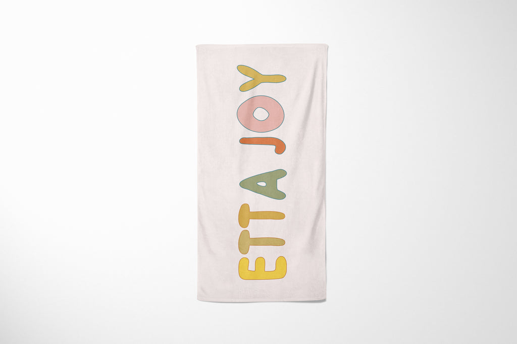 Custom Name | Beach Towel