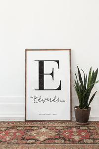 Family Name Sign | Customizable