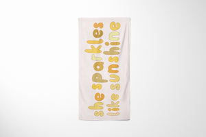 She Sparkles | Beach Towel
