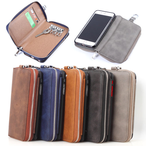 Case For iPhone6 Plus Luxury Retro Wallet Phone Case For iPhone 6 Plus PU Leather Handbag Bag Cover Case Coque