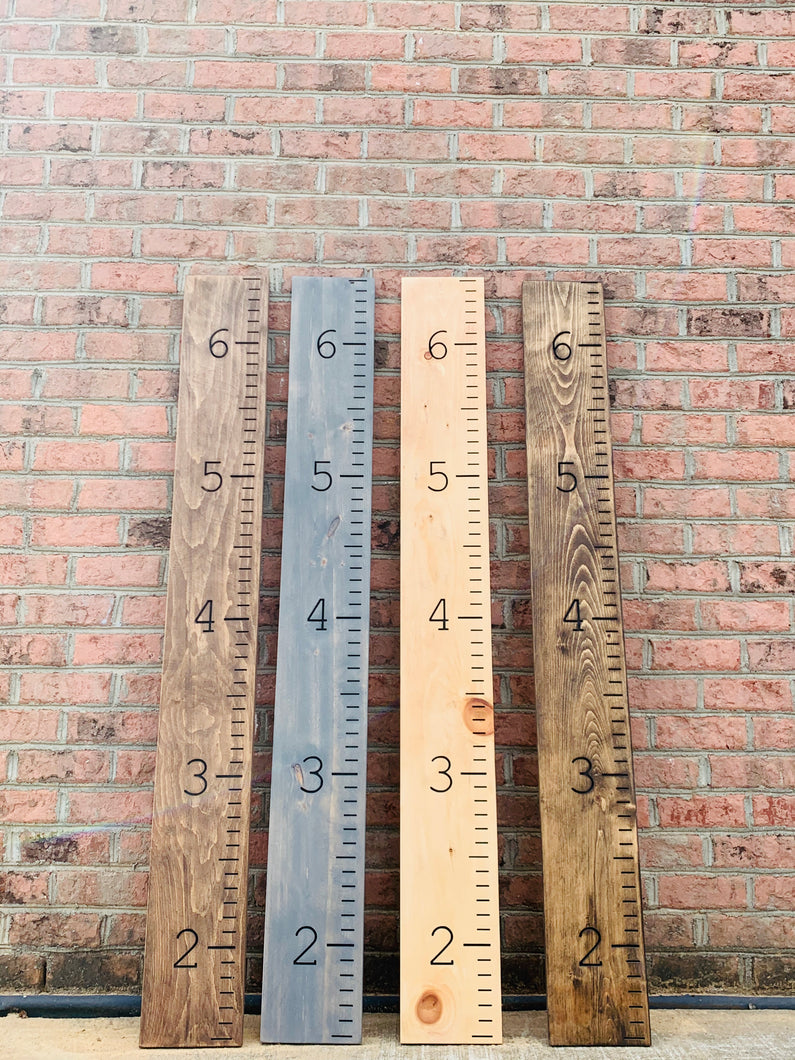 Wooden Growth Charts