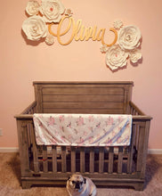 Load image into Gallery viewer, girls-floral-nursery-pretty-wood-name-sign
