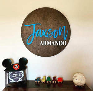 Round Name Sign 24""