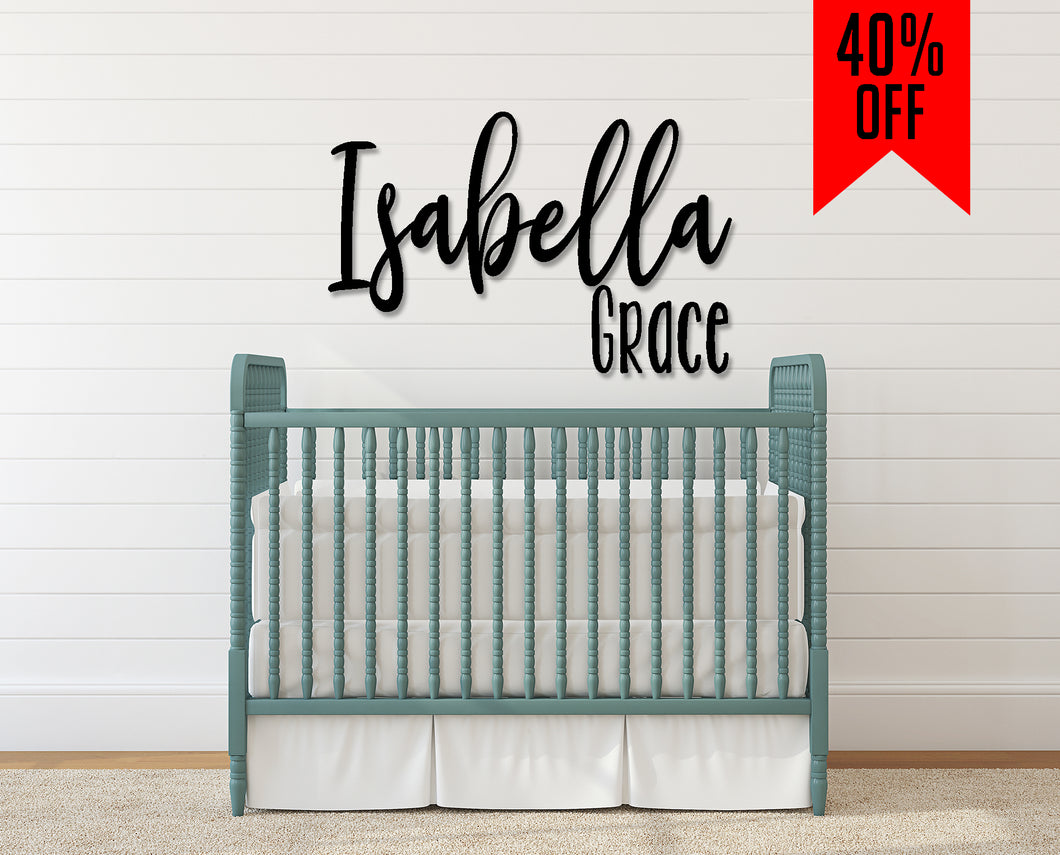 Stacked Nursery Name Sign