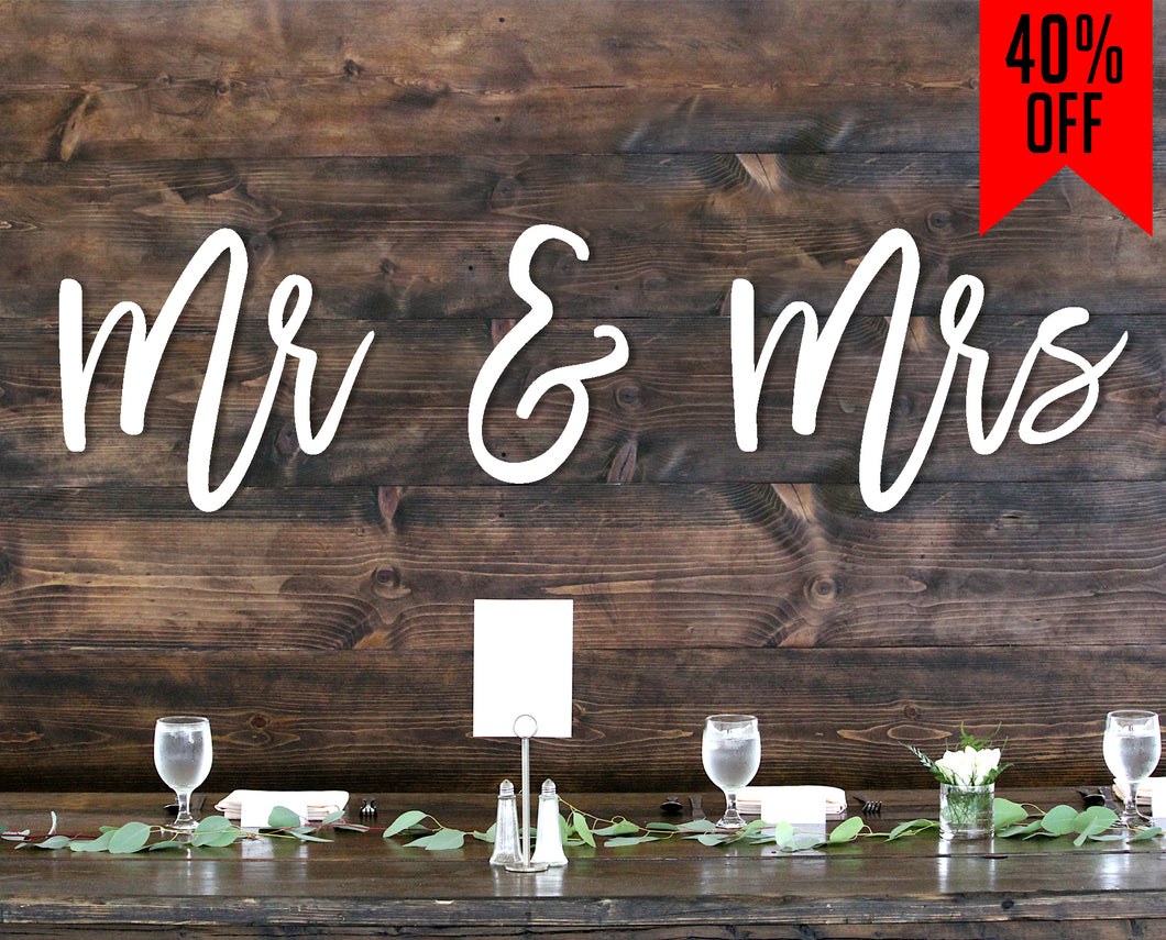 Mr. & Mrs. Custom Wood Sign
