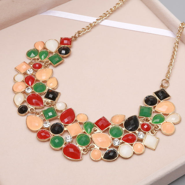 CLAVICLE NECKLACE - BLACK/MULTI