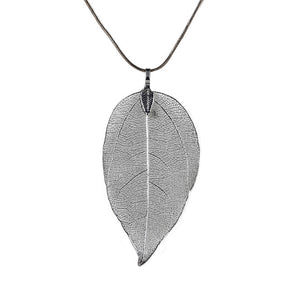 Real Chain Leaf Charm Design Pendant - Necklaces & Pendants