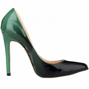 Pointed Toe Leather Pumps