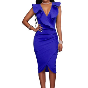 ROYAL LIFE DRESS - DARK BLUE/MULTI
