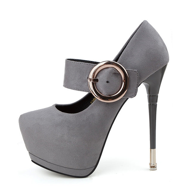 Ultra High Heels - Mary Janes Party Club Shoes