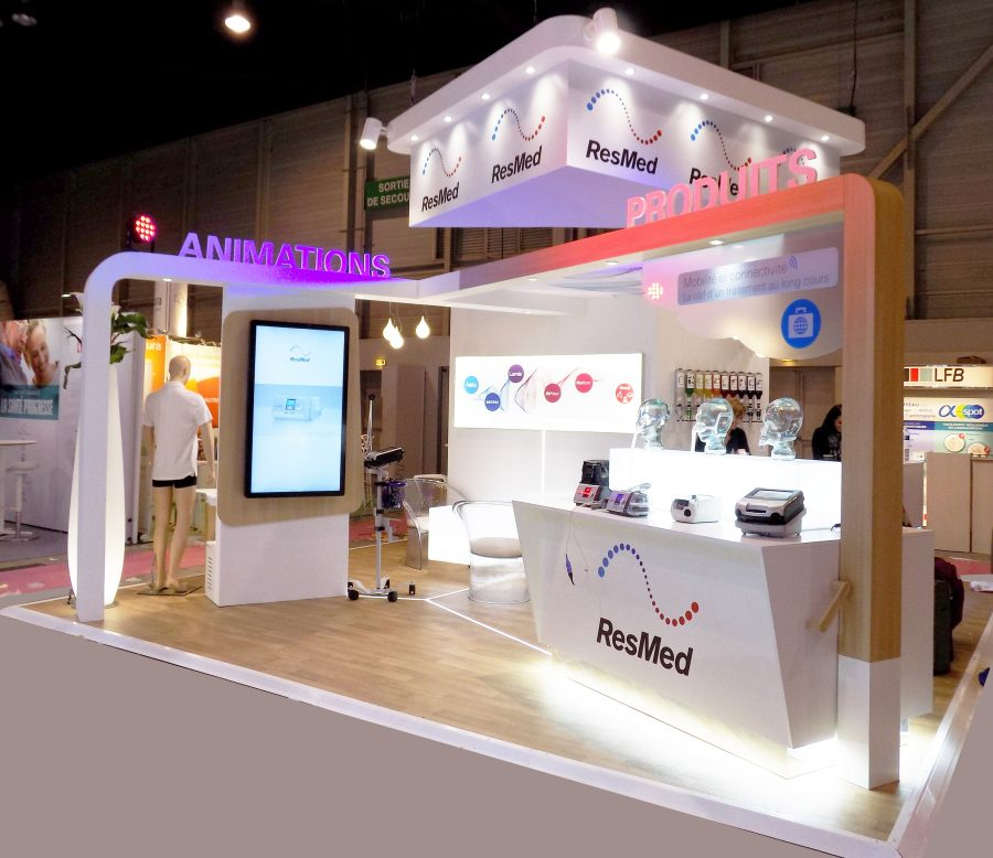 Stand Salon professionnel ResMed Media Product