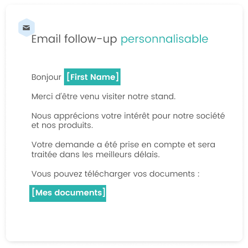 email follow up evenement