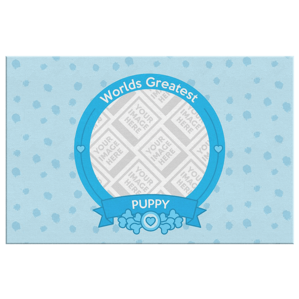 Canvas Wall Art Template - World's Greatest Puppy Personalized Canvas Wall Art