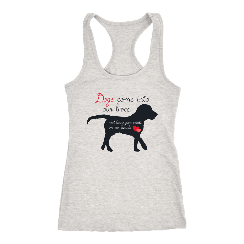 T-shirt - Dogs Leave Paw Prints On Our Heart Women's Shirt