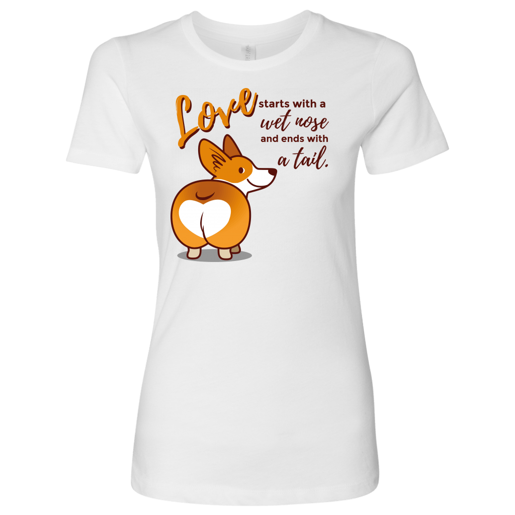 T-shirt - Love Starts With A Wet Nose And Tail Women's Shirt