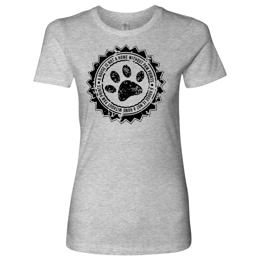 T-shirt - Paw Prints Make A Home Women's Shirt