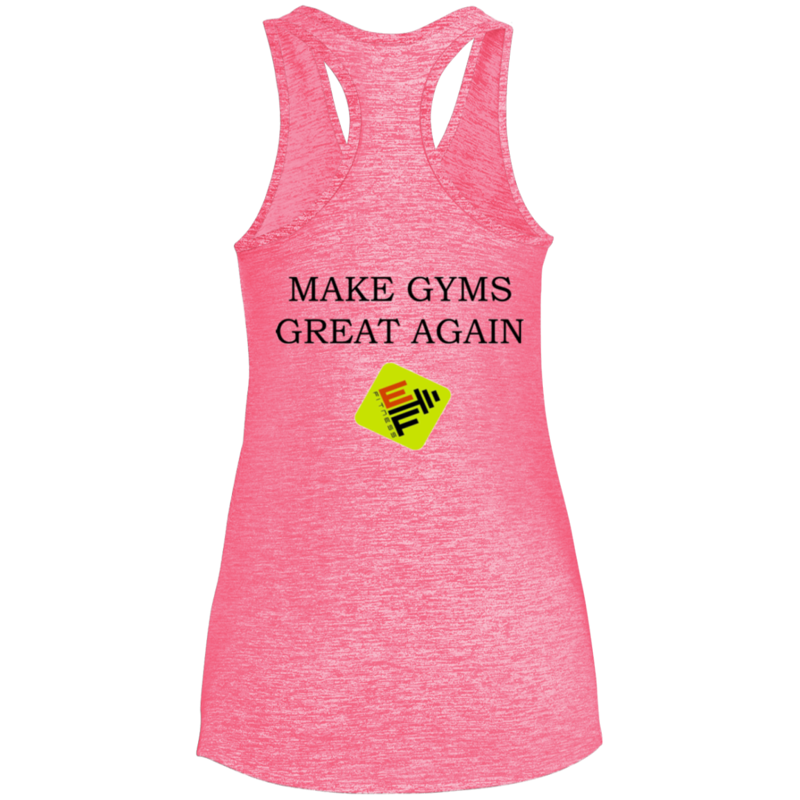 Make Gyms Great Sport-Tek Ladies' Moisture Wicking Electric Heather Racerback Tank
